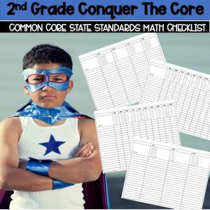 Second Grade Common Core Math Checklist FREEBIE