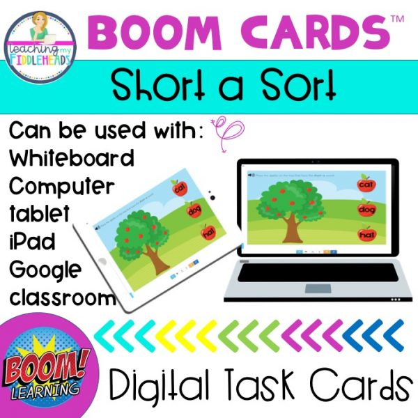 Short A Word Family Phonics BOOM Cards