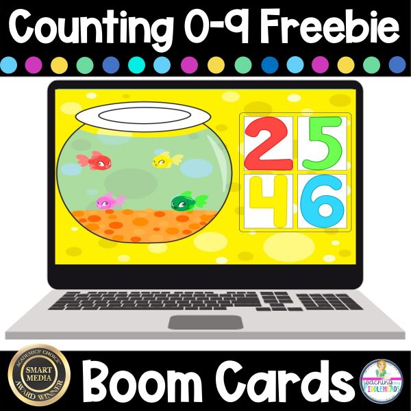 Counting 0-9 Digital Boom Cards