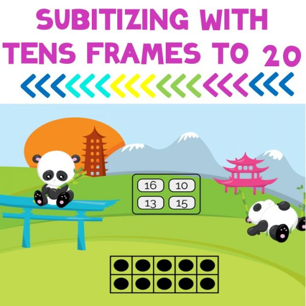 Subitizing with tens frames to 20