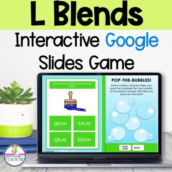 L blends Game on Google Slides™ Phonics Activities