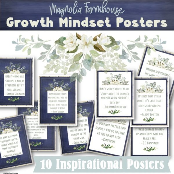 Growth Mindset Inspirational Posters Magnolia Farmhouse