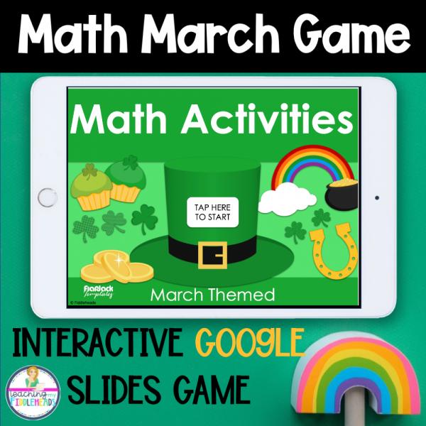 Math Google Slides Games March Themed