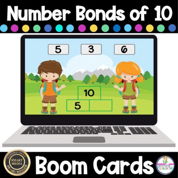 Number Bonds of 10 Digital Boom Cards FREEBIE