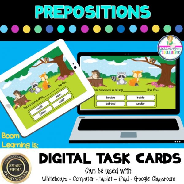 Prepositions Boom Cards