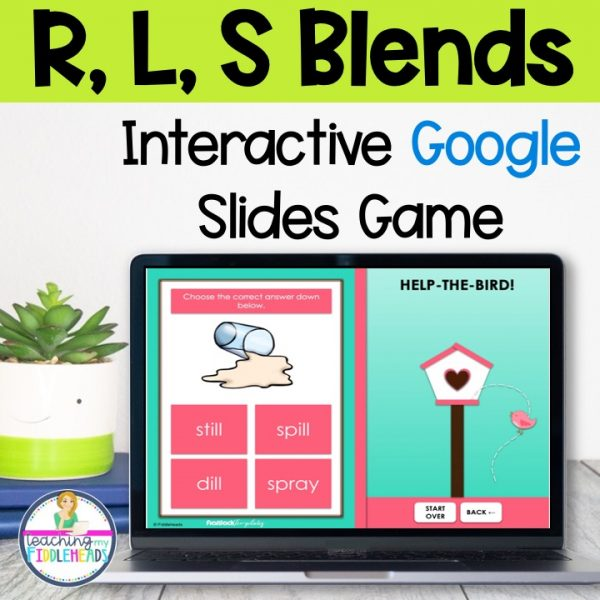 L, S, & R Blends Game on Google Slides™ Phonics Activities