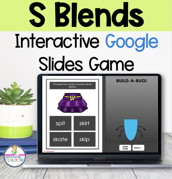 S Blends Game on Google Slides™ Phonics Activities