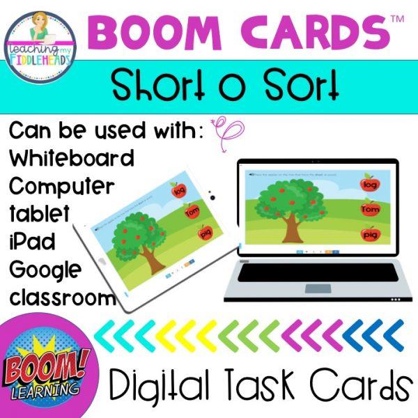 Short o CVC Word Sort BOOM Cards