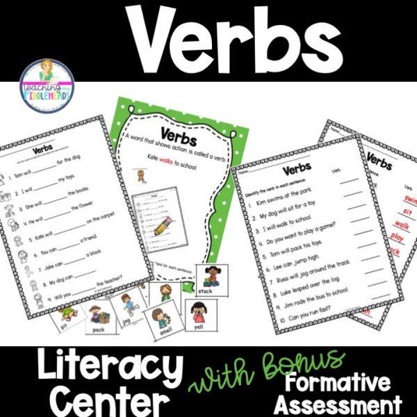 Verbs Literacy Grammar Center Activity FREEBIE