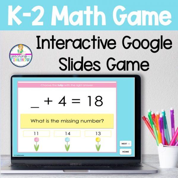 K-2 Math Google Slides Game April Themed