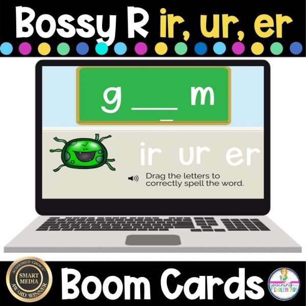 Bossy R (R Controlled Vowels) Words With ir, er, ur BOOM Cards