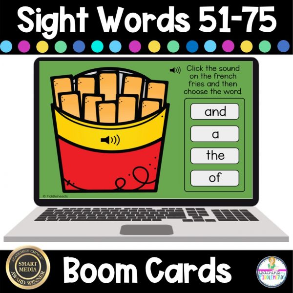 French Fry Sight Words 51-75 Boom Digital Task Cards