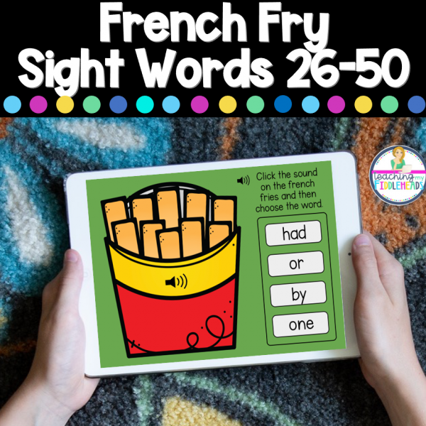 French Fry Sight Words 26-50 Boom Digital Task Cards