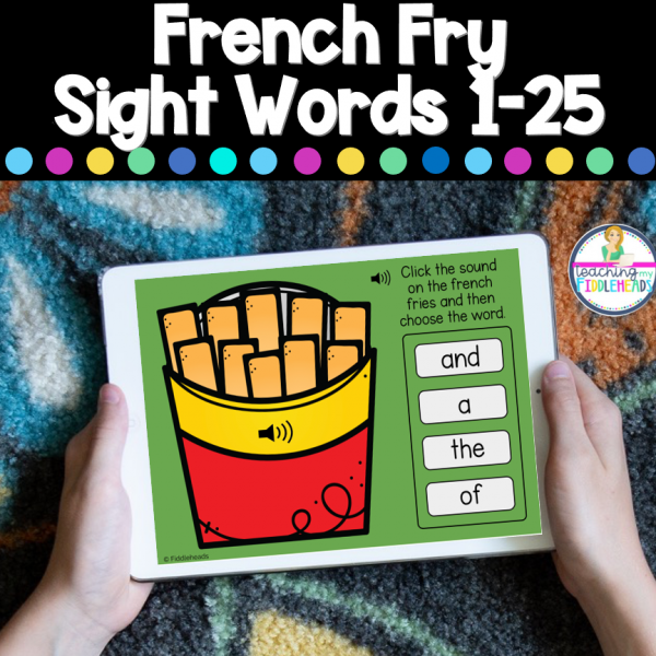 French Fry Sight Words 1-25 Boom Digital Task Cards