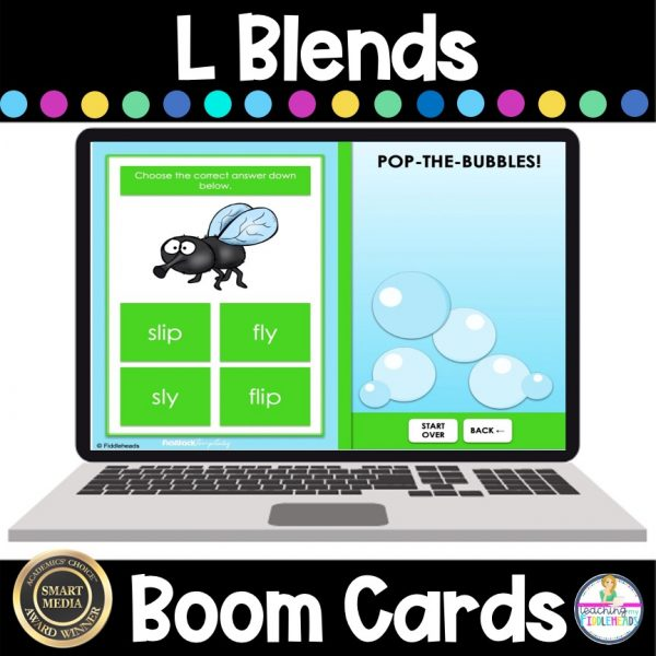 L Blends Game BOOM Cards Phonics Activities
