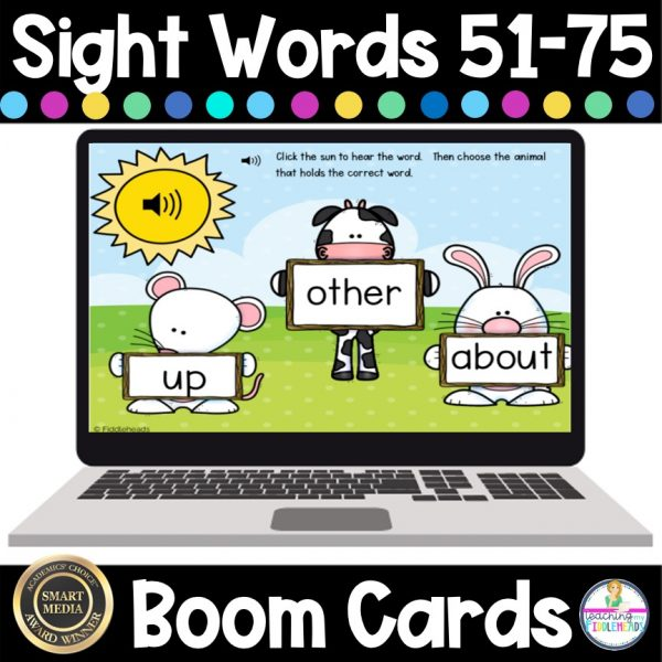 Sight Words 51-75 Boom Digital ELA Task Cards
