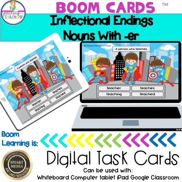 Inflectional Endings Nouns With -er Boom Cards