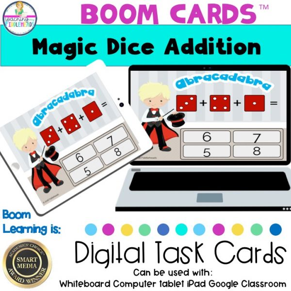 Adding 3 Die Boom Cards Digital Dice Game