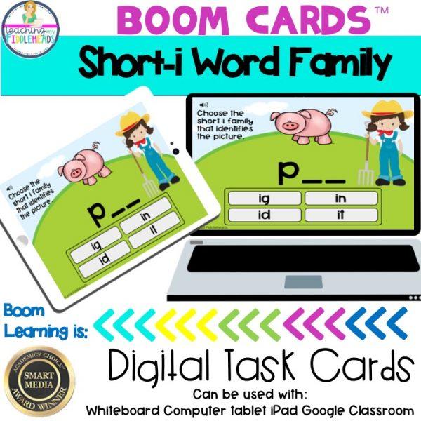 Short i CVC Word Family Boom Cards