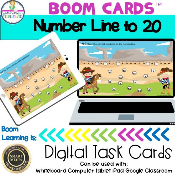 Number Line to 20 BOOM Cards