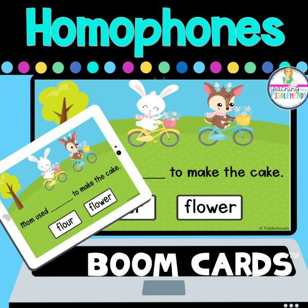 Homophones Digital BOOM CARDS Distance Learning