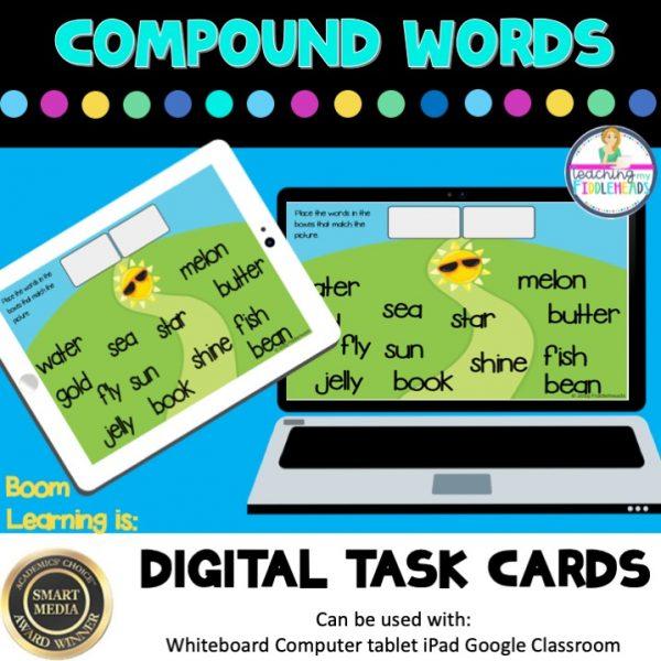 Compound Words Digital Boom Task Cards