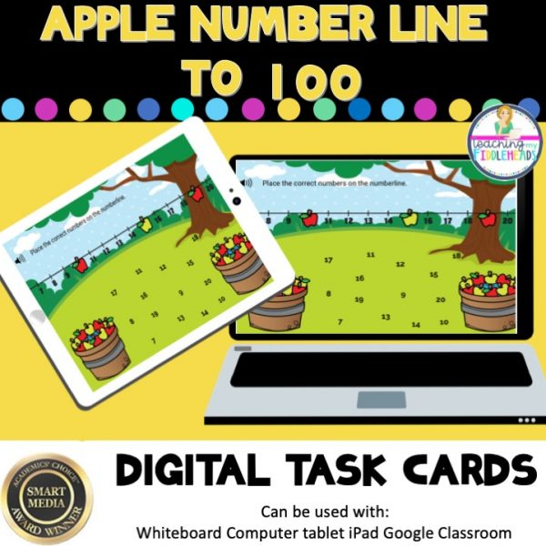 Apple Number Line to 100 Boom Cards