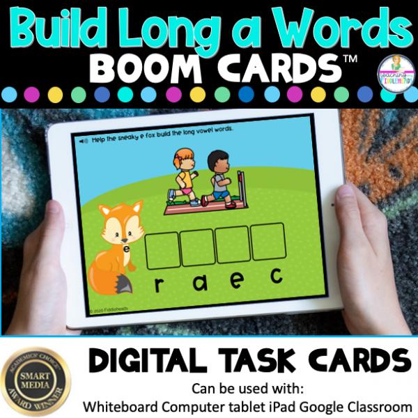 Build Long a Words CVCe Boom Cards