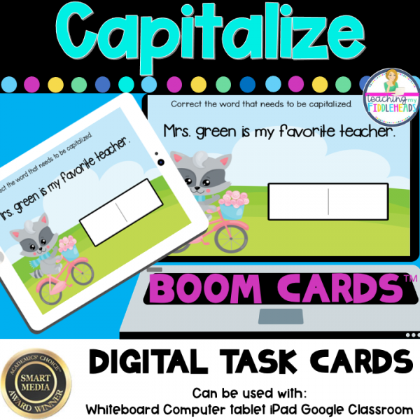 Capitalize Digital BOOM CARDS Distance Learning