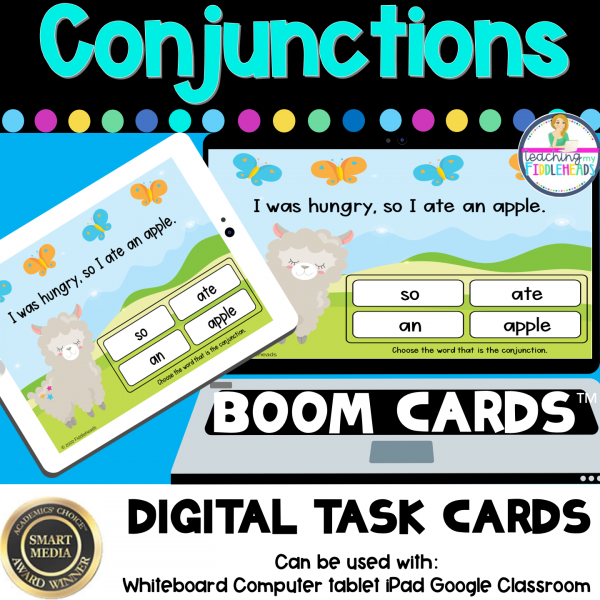 Conjunctions Digital BOOM CARDS Distance Learning