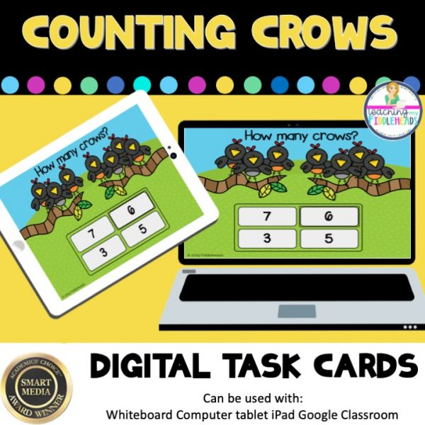 Counting Crows to 10 Digital Boom Task Cards