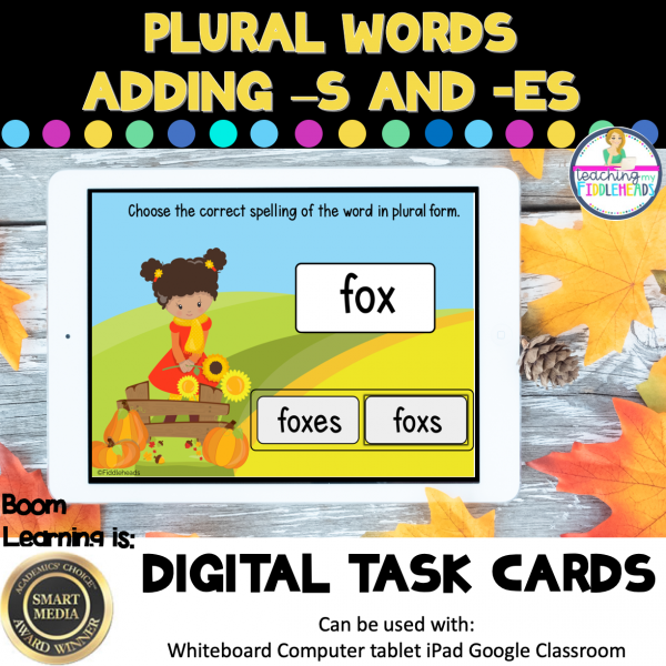 Plural Words With -s and -es Boom Cards