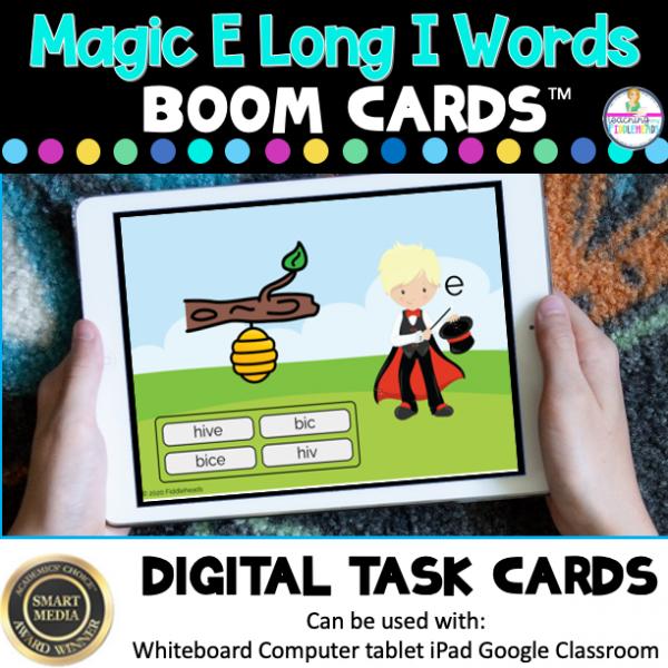 Long i Words with Magic E CVCe Boom Cards
