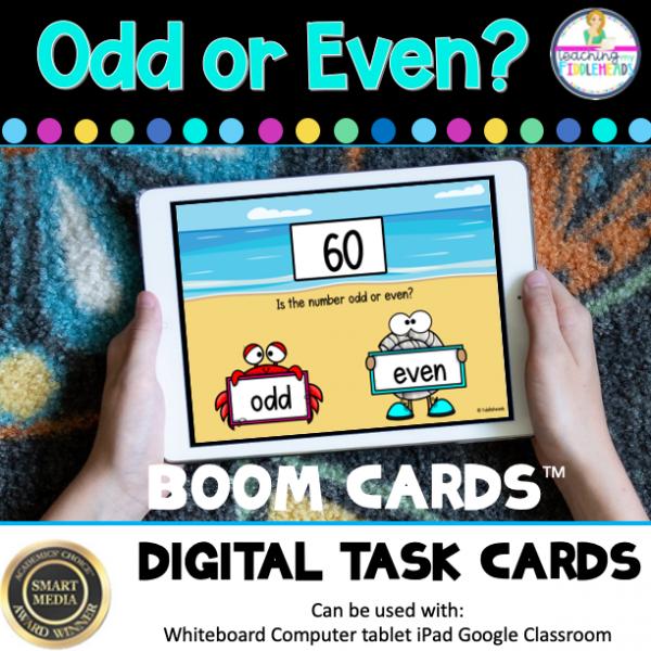 Odd or Even Digital Boom Task Cards
