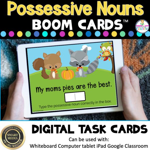 Identify Possessive Nouns Boom Cards