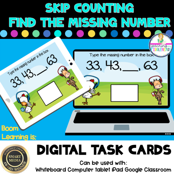 Skip Counting Fill In Number Digital Boom Task Cards