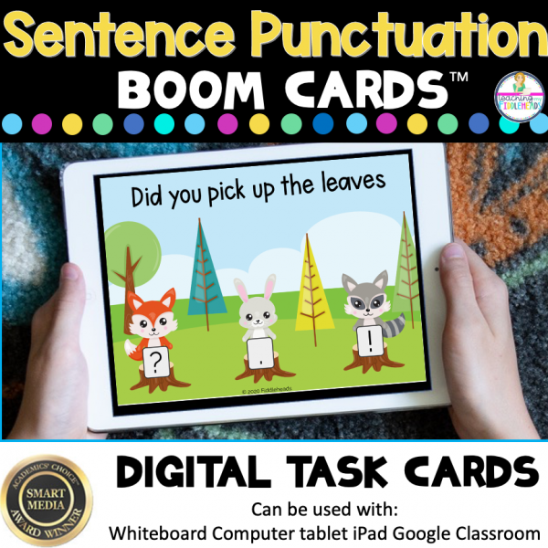 Ending Sentence Punctuation Boom Cards