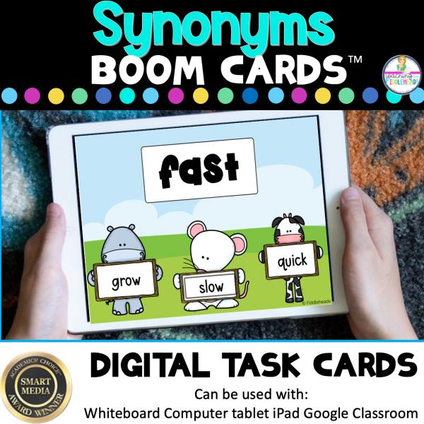 Synonyms Digital Boom Task Cards