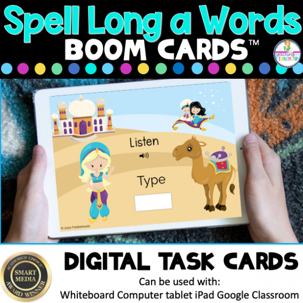 Listen and Spell Long a Words CVCe Boom Cards
