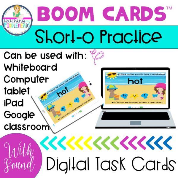 Short o CVC Practice Boom Cards