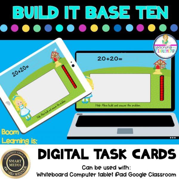 Build It Base Ten Digital Boom Task Cards