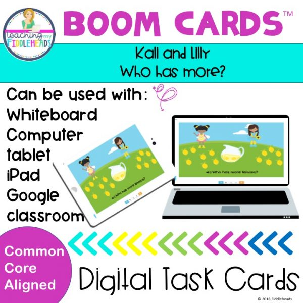 Who has More? Addition Boom Cards