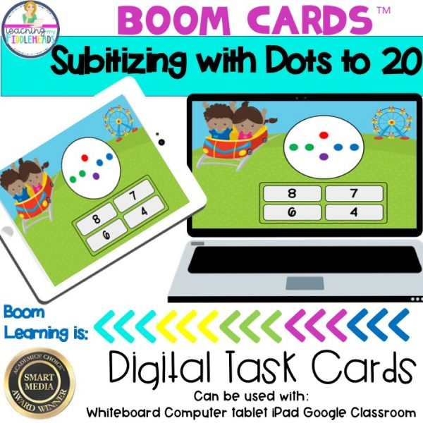 Subitizing with dots to 20 Boom Cards