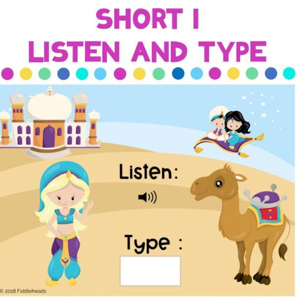 Short i Listen and Type CVC Boom Cards