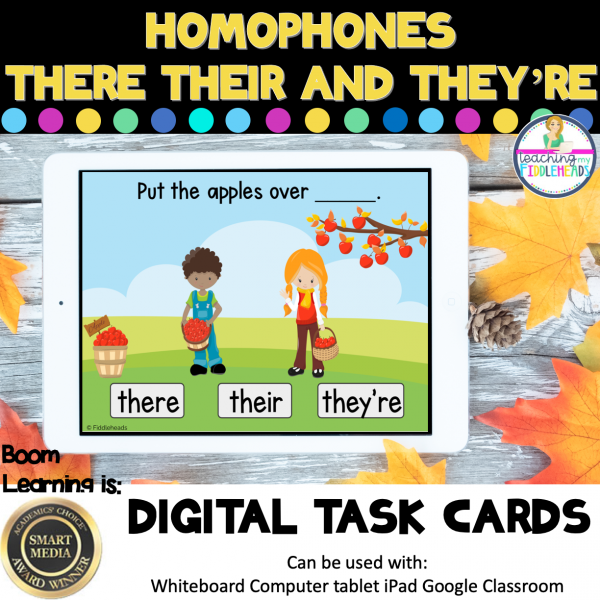 Homophones There Their They're Boom Cards