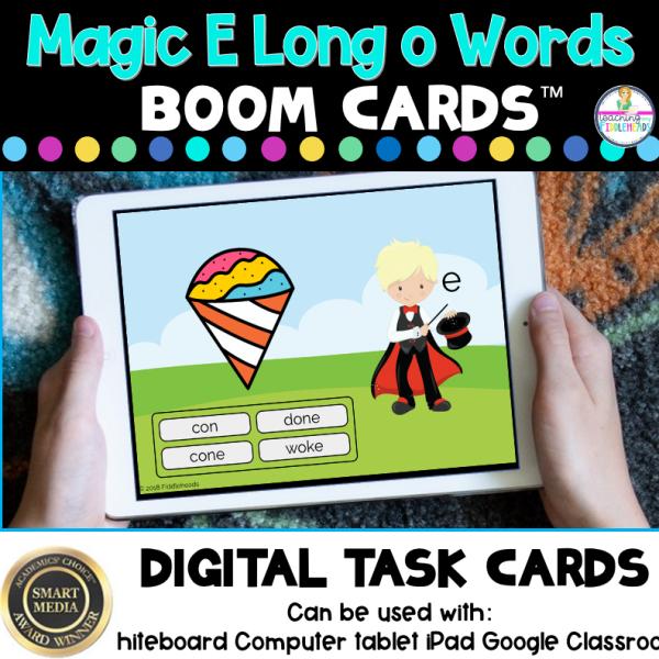 Magic e Long o Words CVCe Boom Cards