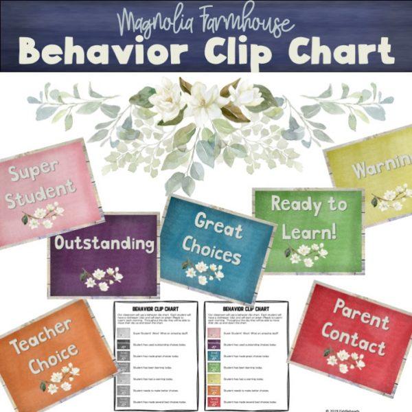 Magnolia Farmhouse Behavior Chart