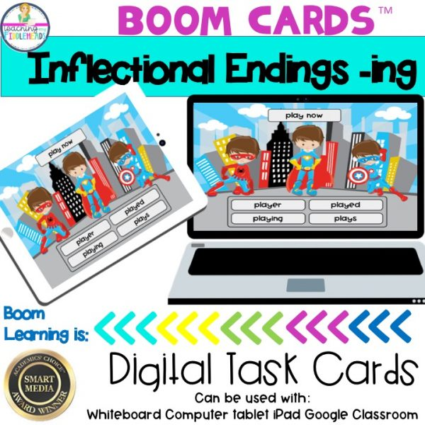 Inflectional Endings -ing Boom Cards   Suffix -ing